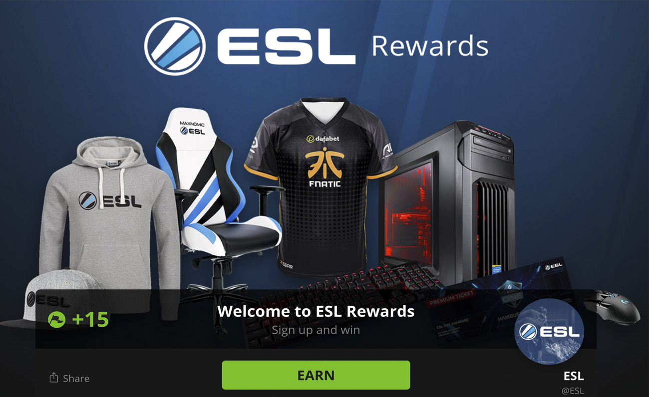 ESL Rewards esports