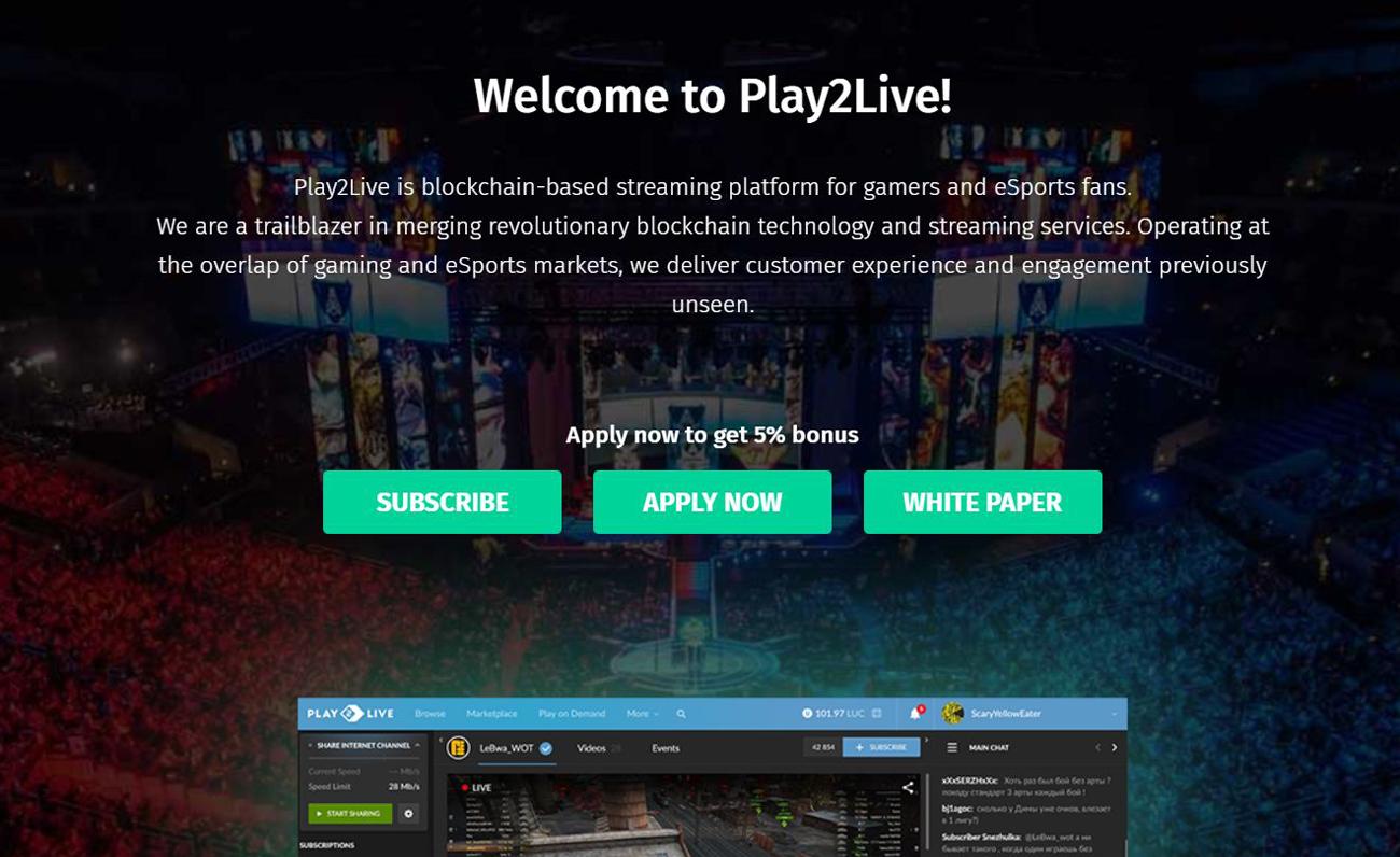 Play2Live Blockchain esports