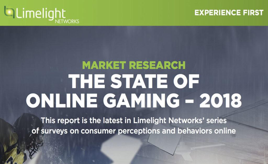 """Informe """"State of Online Gaming"""" de Limelight Networks"""