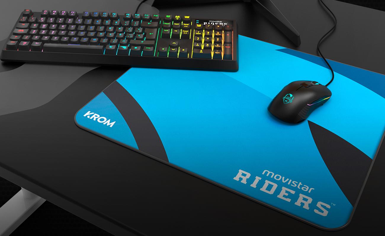 Movistar Riders presenta su nueva línea de periféricos junto a Krom; teclado mecánico y ratón gaming