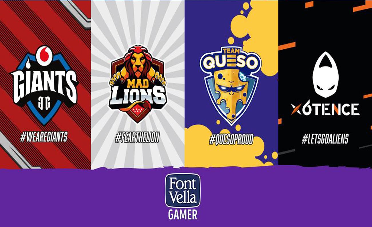 Font Vella firma un acuerdo cuádruple con cuatro equipos españoles con su nuevo proyecto Font Vella Gamer