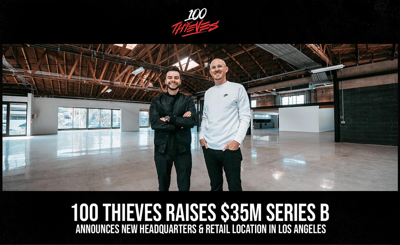 100 Thieves levanta su Serie B de financiación de $35 millones para un total de $50 millones