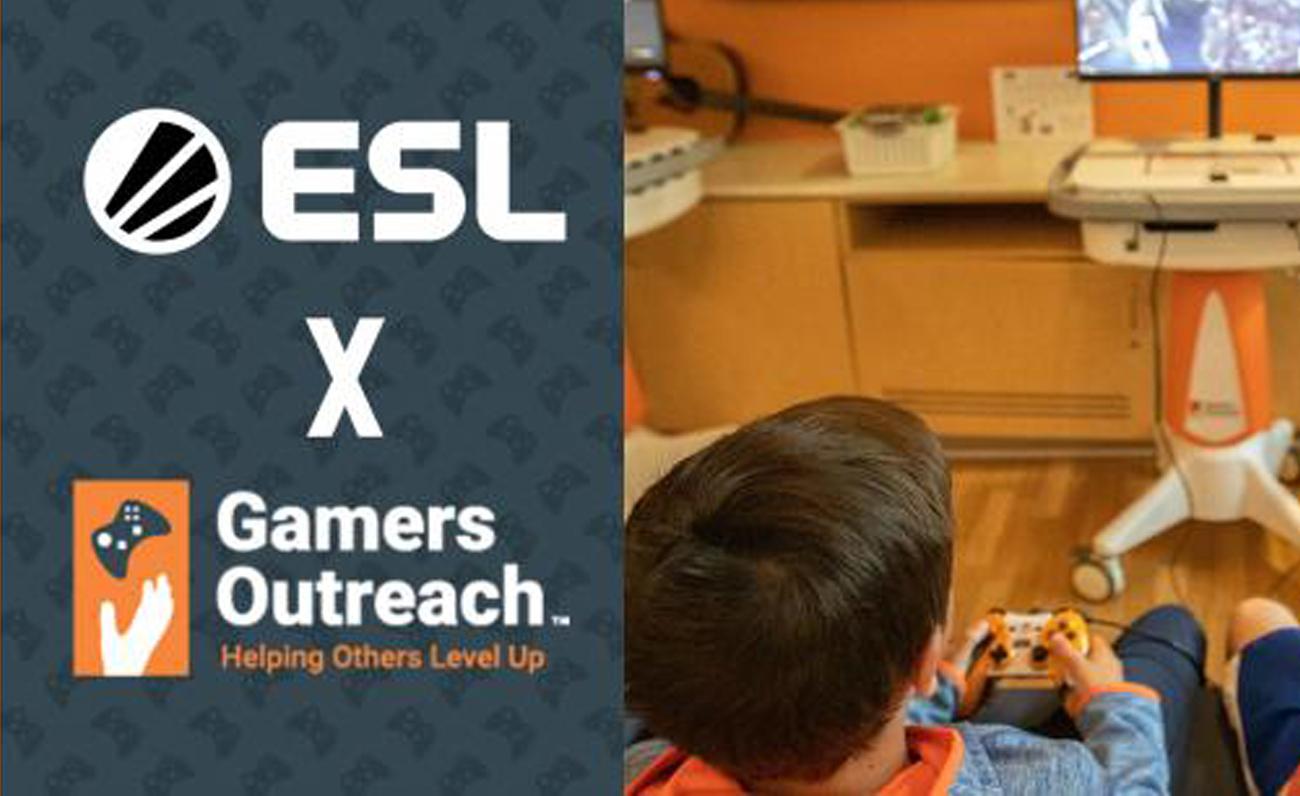 ESL y la organización benéfica Gamers Outreach se asocian para apoyar a los niños en los hospitales