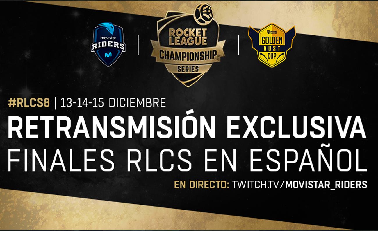 Movistar Riders retransmitirá en exclusiva los World Finals de RLCS en español en asociación con Golden Dust Cup